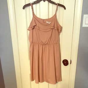 Lauren Conrad Sunset Hill Peach Stud Dress